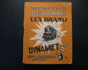 Vintage cartoon Lex Brand,Dynamiet... 1948