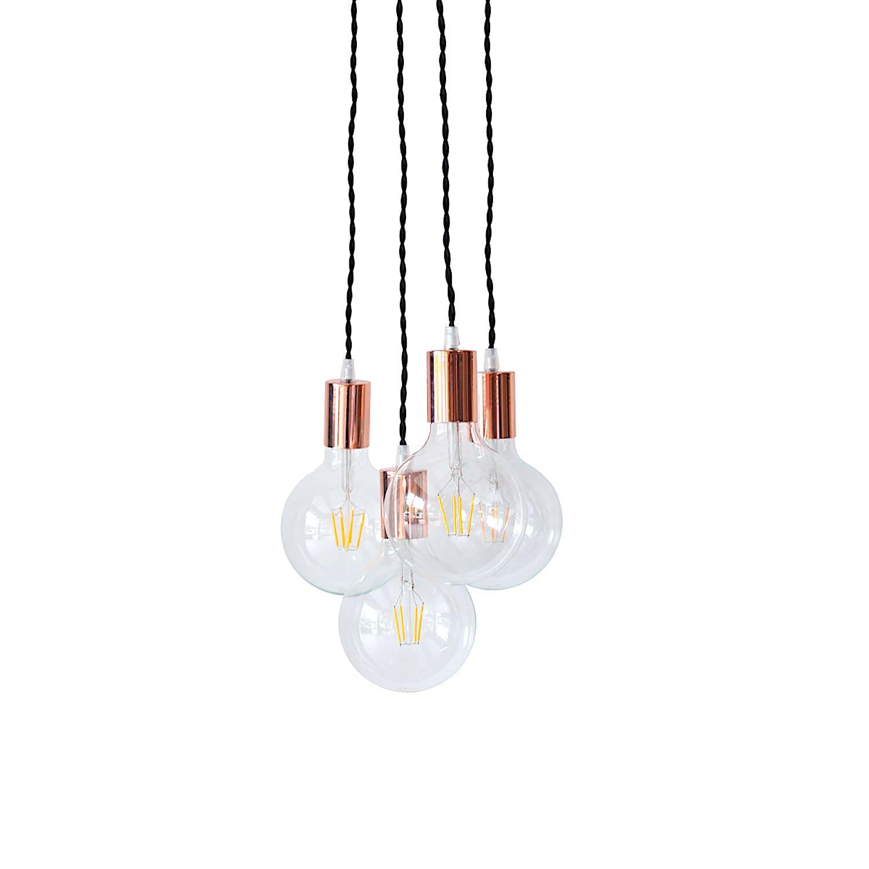 Copper Chandelier Light Cluster Rose Gold Pendant Lighting