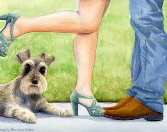 Learning to Share A Limited Edition Schnauzer Print