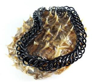 HALF PERSIAN  BRACELET (black stainless steel)