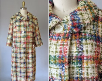 Sara Sage wool coat   vintage sweater coat   60s vintage coat