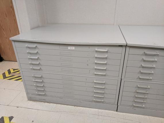 Mayline large flat map blueprint file cabinet 5 drawer malvernweather Gallery
