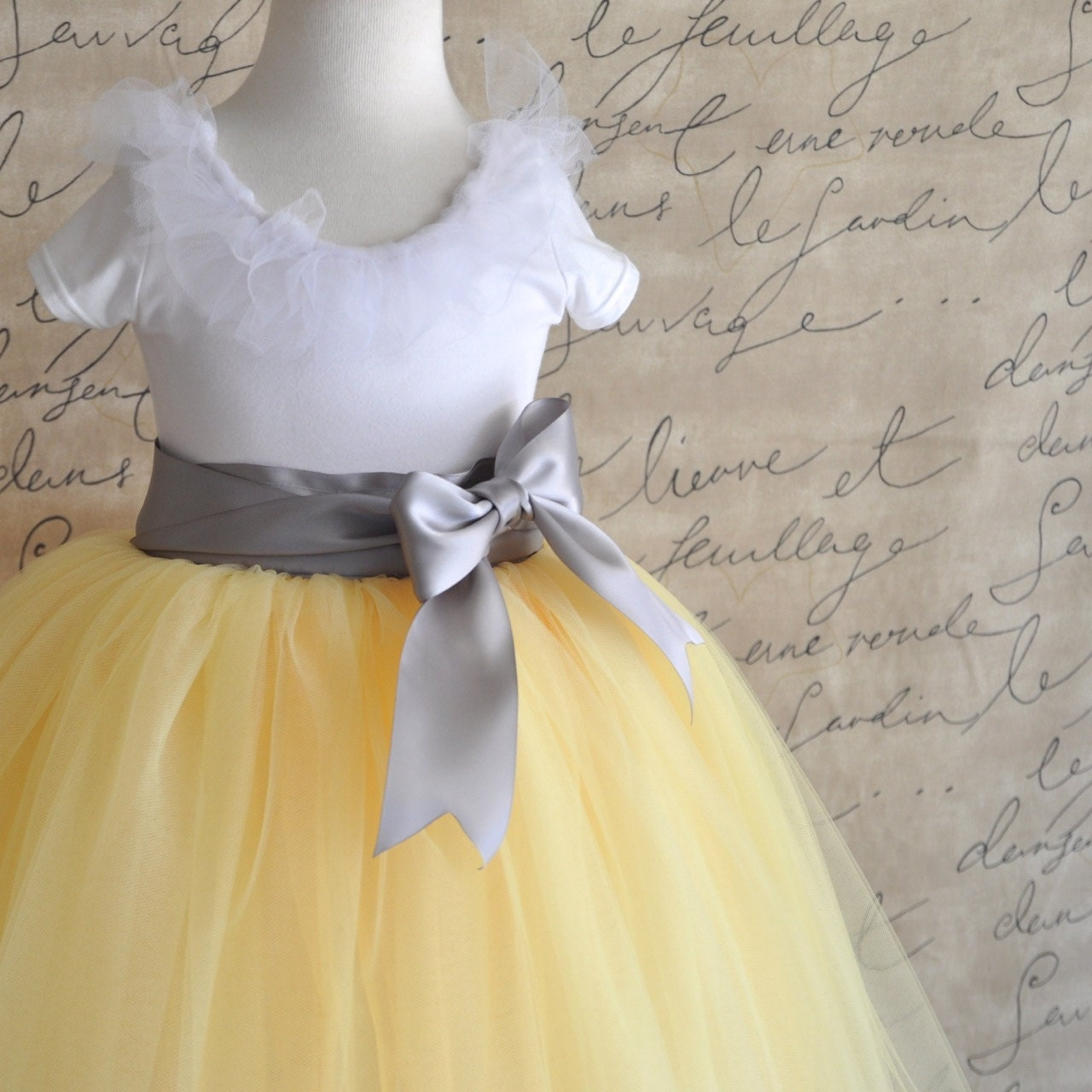 Modern White And Yellow Flower Girl Dresses Gift Wedding And