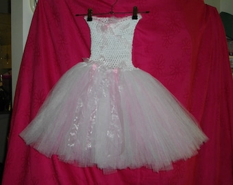 Child's Pink and White Tulle Tutu 3-6yrs