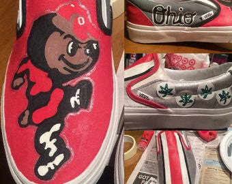 Hand-Painted College Team Shoes