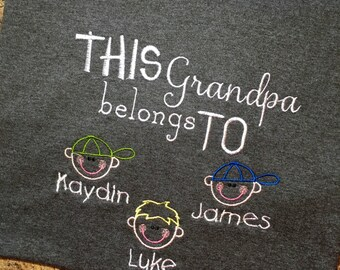 Personalized grandpa/papa/dad shirt
