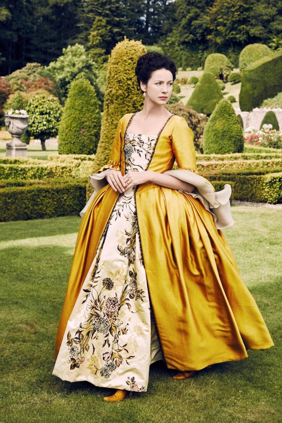 OUTLANDER Claire Yellow Paris Costume, Custom-made