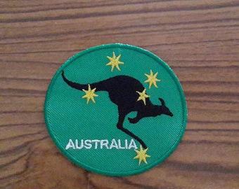 Australia Kangaroo Applique Embroidered Iron on Patch