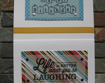 life is better when you're laughing blank cards