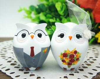 Nerdy Wedding Cake Topper,Owl Wedding Cake Toppers,Fall Wedding Cake Toppers,Owl Wedding Gift