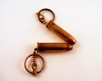 38 caliber bullet key chain
