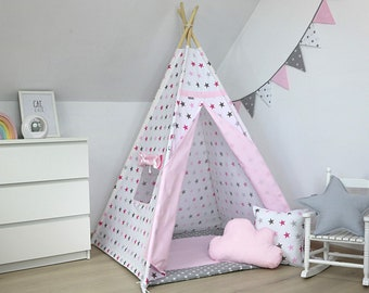 Childrens Teepee, Teepee tent, Kids Teepee, Teepee, Teepee for Girl, Tipi tent for kids, Kids playhouse, Tipi, wigwam, Fairy tail Teepee