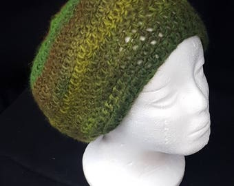 Relaxed Forest Green Slouch Hat