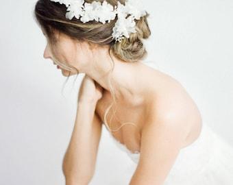 Haarkranz, Hochzeitsstirnband, Braut Stirnband, Kristall Perlen Haare Rebe, Perlenstirnband, Spitze Braut Kopfschmuck, Haar Vine - Art-704