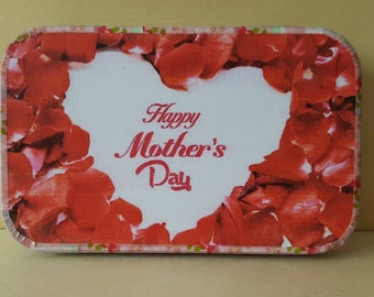Mother's Day, altoids tin, magnets in a decorated tin
