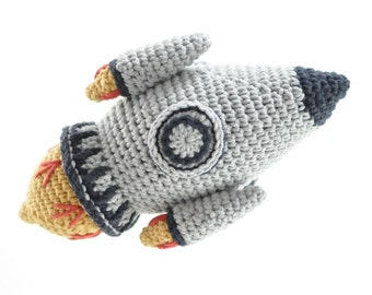 Crocheted Rocketship Pattern PDF