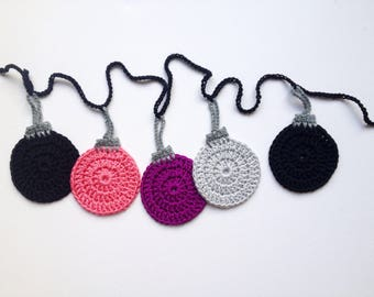 Christmas Bauble Garland, Xmas Decor, Crochet Hanging Ornaments