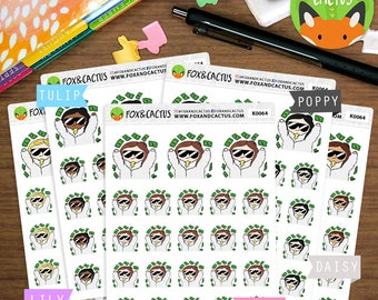 Payday Kawaii Girls - Pay Day Money Shopping Shopaholic - Planner Stickers (K0064)
