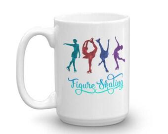 Colorful Figure Skating Coffee Mug for Figure Skaters