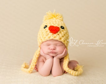 Baby Chick Peep Hat in Yellow