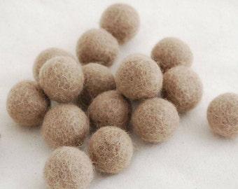 10 Felt Balls - 3cm - Dark Latte
