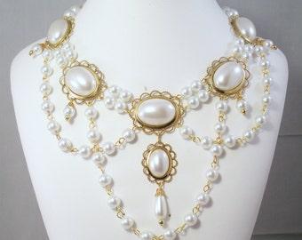 Renaissance Necklace, Medieval Necklace, Tudor, Medieval Jewelry, Renaissance Jewelry, Tudor Jewelry, Elizabethan Jewelry, U Pick Colorsl