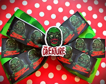 The Creature From The Black Lagoon inspired Hair Bow