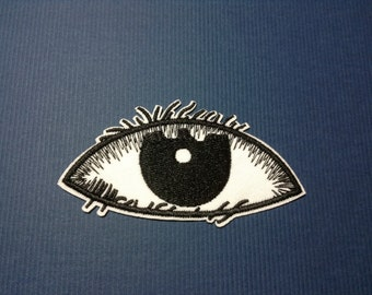 Iron on Sew on Patch:  Eye