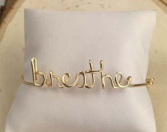 breathe bracelet. breathe. just breathe.