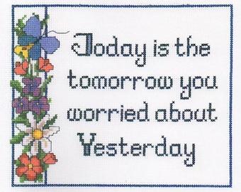 Imaginating Today Cross Stitch Pattern