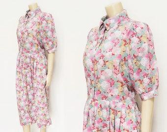 Liberty Print Dress, UK12, Tana Lawn, Vintage Dress, Floral Dress, Vintage Clothing, Ladies Vintage, Dress, Wedding Outfit, Designer Vintage