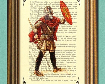 Game of Thrones - LANNISTER SOLDIER - Dictionary Art Print -Vintage book page print recycled