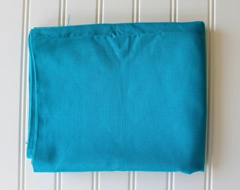 Vintage Fabric - Cotton - Cotton Duck - Bright Turquoise - Yardage