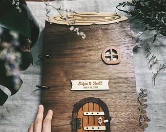 A4 Custom Wedding Guest book - Forest or Garden Wedding, Baby Shower, House warming or Anniversary gift TrBk2