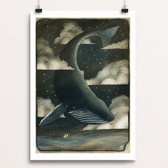 Sky Whale II - Signed Print