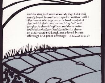 Papercut Art - David Makes Atonement - 2 Samuel