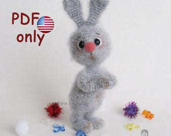 Crochet pattern - Little bunny amigurumi Easter rabbit hare toy animal (English)