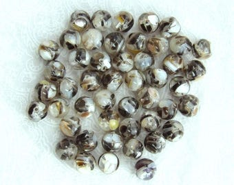8mm Shell Beads Mosaic Shell Beads Mother Of Pearl Beads MOP Beads Sea Shell Beads