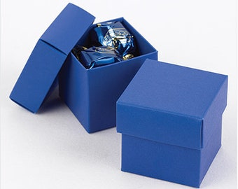 Royal Blue Favor Boxes (Pack of 25) Wedding Party Favors