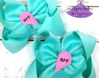 Best Friends Galantine's Day Gift, BFF Gift, Gift for Best Friend, BFF Hair Bow, Gift for Friends, Gift for Girls, Birthday Gift