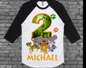 Lion Guard Birthday Shirt - Lion Guard Shirt - Raglan Styles Available