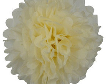 Tissue Paper Pom Pom 12inch Ivory TPP120088 Just Artifacts Brand