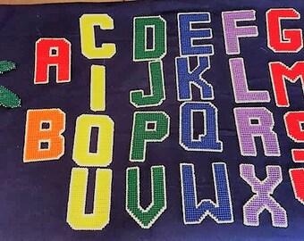 Plastic Canvas Alphabet Letters & Chicka Chicka Boom Boom Tree