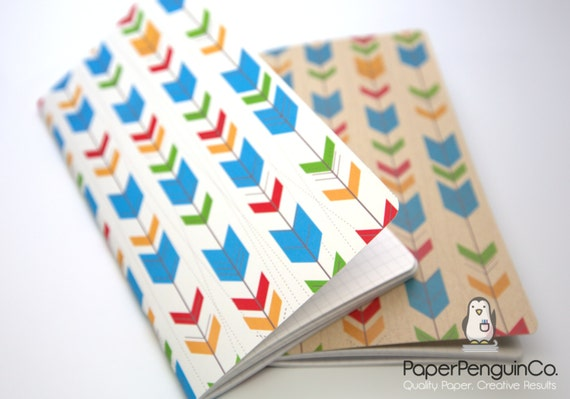 Midori Insert Colorful Arrows Travelers Notebook Regular A5 Wide B6 Personal A6 Pocket Field Notes Passport/Grid Dots Lined/Bullet Journal