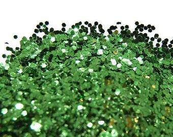 Moss Green Glitter, SOLVENT RESISTANT, GLITTER, 0.040 Hex, Glitter Nail Art, Glitter Nail Polish, Glitter Craft, Slime Glitter, Nail glitter