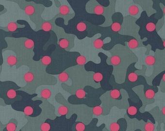 Polka Dots on Berry Camo, Glamo Camo, from Dear Stella