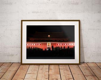 The Tiananmen. Fine art photography.