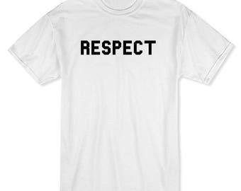Respect Look It Up Men's White T-shirt
