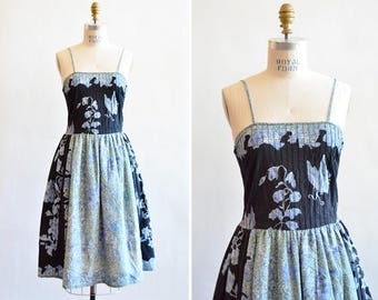 Vintage 1950s SUMMER cotton dress
