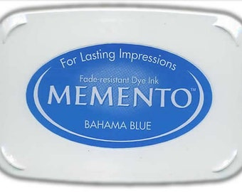 New Memento Full Size Ink Pad - BAHAMA BLUE - Fade Resistant Dye Ink by Tsukineko